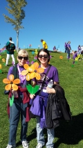 ita and Gina at 2016 Walk to End Alzheimer's